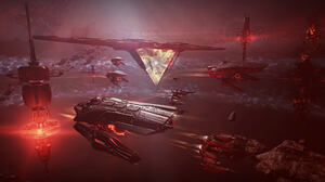 EVE Online PC Gaming Spaceship Science Fiction Video Game Art Digital Art Space Nebula 1920x1080 Wallpaper