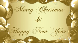 Merry Christmas Happy New Year New Year Bauble 1920x1355 wallpaper