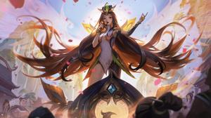 Seraphine Seraphine League Of Legends Phoenix League Of Legends Riot Games Music Pixel Art Digital A 7680x4320 Wallpaper