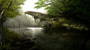 Aircraft Bomber Forest Jungle River Vietnam 6400x3508 Wallpaper