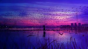 Sunset Sky HuashiJW 4096x2160 Wallpaper