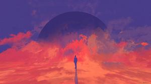Sci Fi Planet Rise 3840x2160 wallpaper
