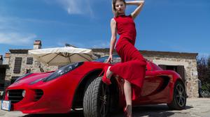 Red Heels Red Cars Red High Heels Heels High Heels Hand On Head Blonde Photography Car Model Dress R 1926x1280 Wallpaper