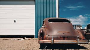 Photography Car Vintage Car Rust Rear View 3840x2160 Wallpaper