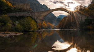 Bridge River Sunlight Nature Outdoors Reflection 3840x2160 Wallpaper