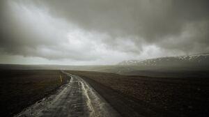 Cloud Iceland Landscape Mountain Road 5826x3884 wallpaper