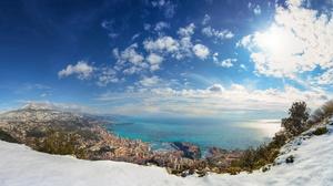 Landscape Monaco Sea Sky 2560x1440 wallpaper