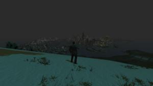Grand Theft Auto IV Liberty City Niko Bellic Snow City Lights Night Sky Mountain Top 1920x1080 Wallpaper