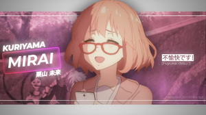 Kuriyama Mirai Kyoukai No Kanata Anime Girls Japan Short Hair Women With Glasses Anime 2732x1536 wallpaper