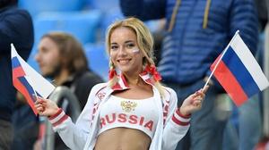 Women Russian Women Smiling Flag Looking At Viewer Blonde Dyed Hair 2560x1707 wallpaper