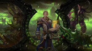 Anduin Wrynn Gul 039 Dan World Of Warcraft Illidan Stormrage Video Game World Of Warcraft 6000x3375 wallpaper