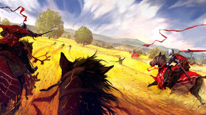Field Horse Knight Sword Warrior 3500x1715 Wallpaper