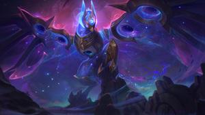 Anivia Anivia League Of Legends League Of Legends Riot Games Space Galaxy Stars Cosmic Break Flight 7680x4320 Wallpaper