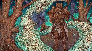 Armor Diablo Iii Necromancer Diablo Iii Scythe Skull 4199x2800 wallpaper