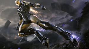 Anthem Video Games Video Game Art Fan Art Futuristic Armor Futuristic Armor Environment Mountains Cl 1920x1178 Wallpaper