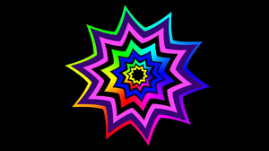 Abstract Colorful Digital Art Geometry Shapes Star 1920x1080 Wallpaper