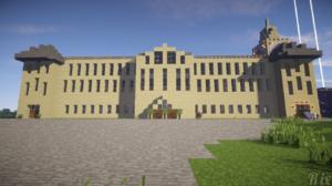 Mansion Minecraft 1366x768 Wallpaper