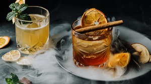 Cinnamon Drink Still Life Glass 6144x4096 Wallpaper