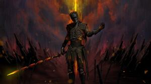 Soul Of Cinder Dark Souls Dark Souls Iii 1800x1609 Wallpaper