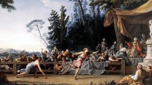 The Race Between Hippomenes And Atalanta Noel Halle Greek Mythology Hippomenes Atalanta Classic Art  2000x877 Wallpaper