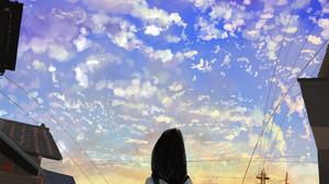 Cloud Schoolgirl Sky Sunset 2339x1653 Wallpaper