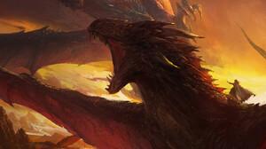 Mazert Young ArtStation Artwork Fantasy Art Dragon Creature 1417x2192 Wallpaper