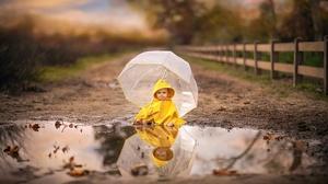 Baby Child Reflection Umbrella 2048x1284 Wallpaper