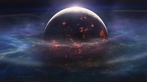 Collision Landscape Planet Space 1654x768 Wallpaper