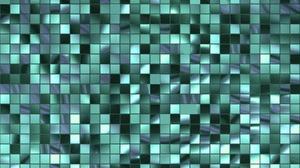 Artistic Geometry Pattern Square Teal 3000x2000 Wallpaper