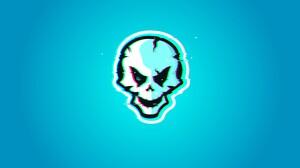 Glitch Glitch Art Skull 12616x7055 wallpaper