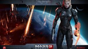 Commander Shepard Fantasy Sci Fi Warrior 1920x1200 Wallpaper