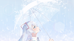 Hatsune Miku Rain Umbrella 2111x1192 Wallpaper