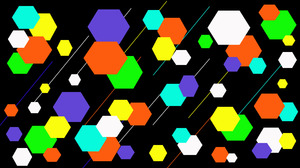 Abstract Colorful Digital Art Geometry Hexagon Shapes 1920x1080 wallpaper