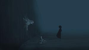 Fog Ghost Girl Night 5640x2400 wallpaper