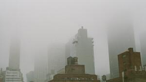 New York City City Winter Building Architecture Mist Pastel Vintage 2048x1371 wallpaper