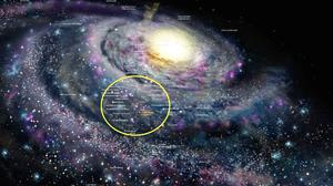 Milky Way Galaxy Space Infographics Stars 2560x1440 Wallpaper