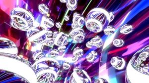 3d Abstract Artistic Ball Blender 3d Digital Art Purple Sphere Violet White 3840x2160 Wallpaper