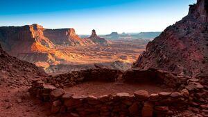 Canyon Canyonlands National Park Circle Desert False Kiva National Park Stone Usa Utah 2560x1600 Wallpaper