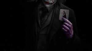 JdNova Heath Ledger Joker Portrait Display Makeup Smudged Makeup Drawing Digital Art DC Comics ArtSt 1224x1500 Wallpaper