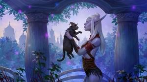 Blizzard Entertainment World Of Warcraft The Nightborne Night Elves 2560x1440 Wallpaper