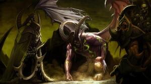 World Of Warcraft Illidan Stormrage Illidan Maiev Shadowsong 2560x1600 Wallpaper