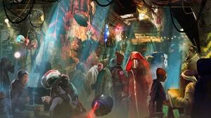 Alien Creature Market People 4999x3264 Wallpaper