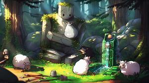 Water Sheep Minecraft 2560x1440 Wallpaper