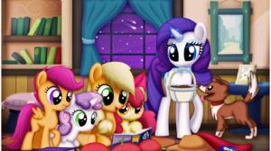 Apple Bloom Applejack My Little Pony Rarity My Little Pony Scootaloo My Little Pony Sweetie Belle Wi 1373x830 wallpaper