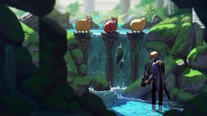 Neytirix Sheep Pewdiepie Fan Art Minecraft Ruin Temple Watermarked 2560x1440 Wallpaper