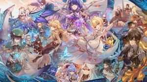 Anime Anime Girls Genshin Genshin Impact Genshin Impact Thoma Dragon Paimon Paimon Genshin Impact Ra 1901x1123 Wallpaper