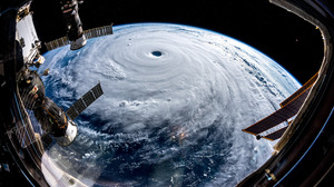 Atmosphere Cyclone Satellite Space Space Station Storm 5568x3712 wallpaper