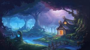 Landscape Digital Art Forange Forest Artwork World Of Warcraft Warcraft 3840x2160 Wallpaper