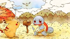 Pokemon Squirtle Pikachu Lugia 1920x1080 Wallpaper