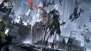 Video Games Video Game Characters Talulah Arknights Patriot Arknights White Hair Sword Crow City Rui 1920x1080 Wallpaper